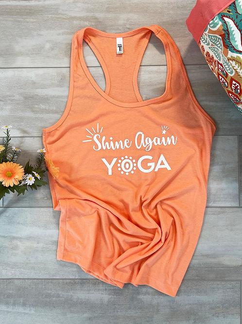 Original Shine Again Yoga Tank, Light Orange