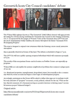 Greenwich hosts City Council debate
