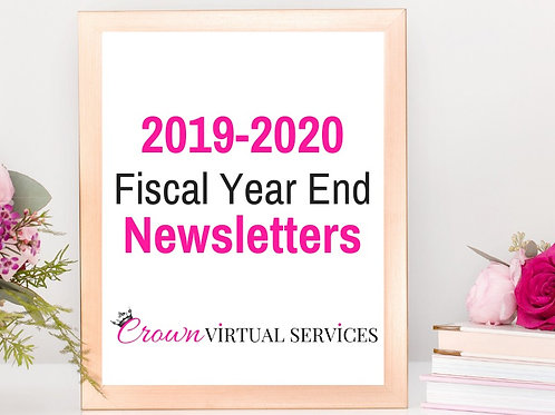 2019-2020 Fiscal Year End Recognition Newsletter