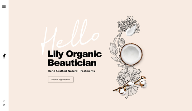 Hair & Beauty website templates – Organic Skin Care Beautician