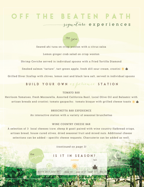 Culinary Client Menu Options (Page 2)