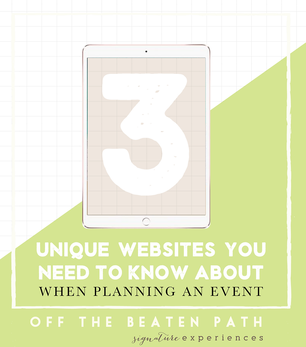 Unique Websites you need to know about when planning an event Off The Beaten Path Weddings