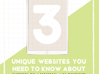 3 Unique Sites To Personalize Your Event