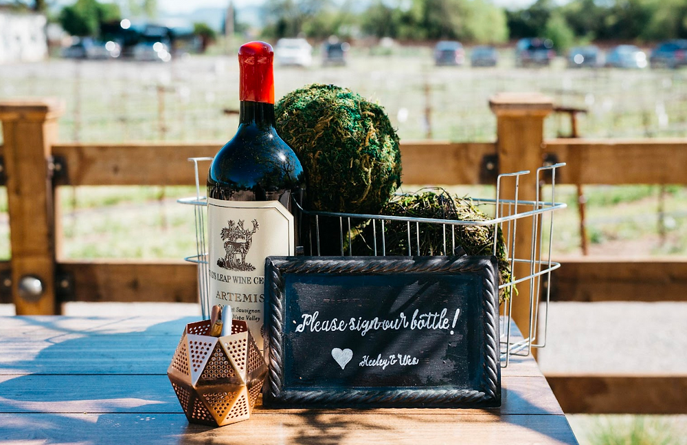 Stags Leap wine guest book