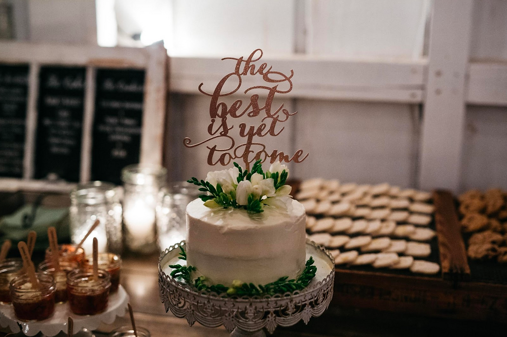 Rose Gold Wedding Cake Topper