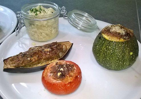 légumes farcis et risotto
