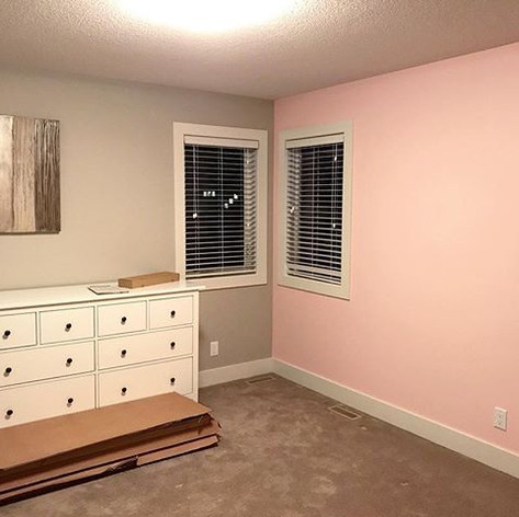 This beautiful girls bedroom was painted