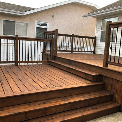 Another exterior deck in the books. This