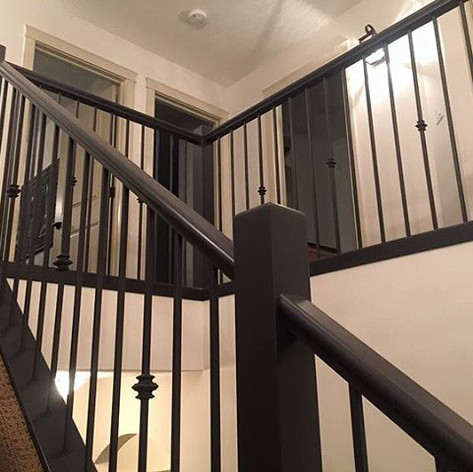 This bannister/railing & Stairwell was p