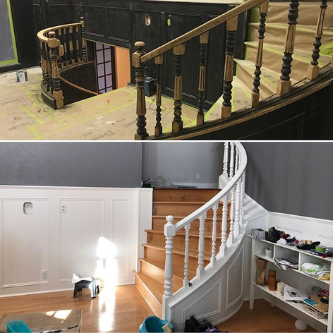 Before and after to this bannister and s