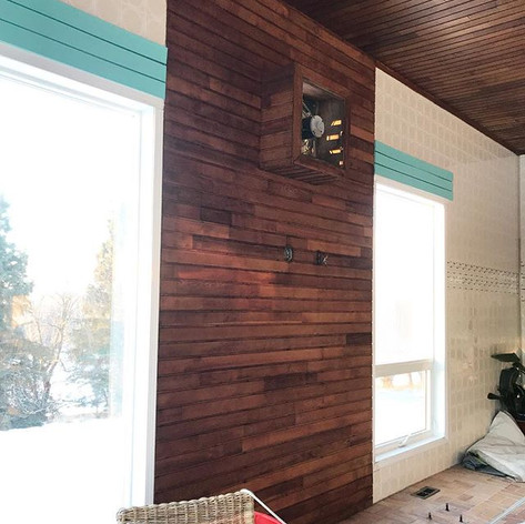 This wood panelled wall. Finished up yes