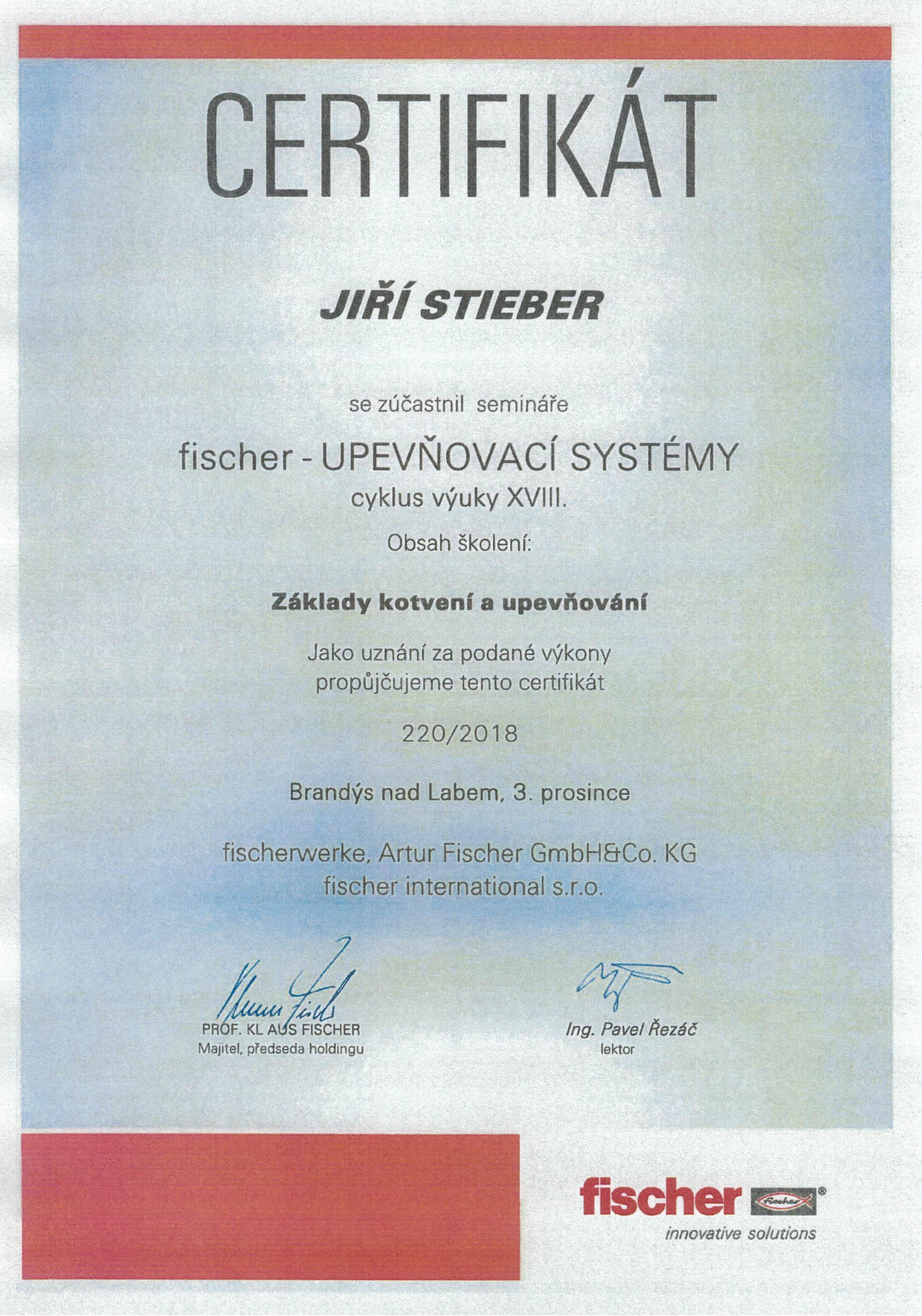 Fischer certifikát