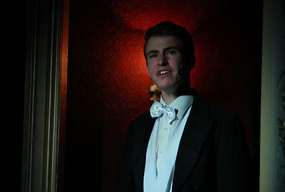Dylan Hartnell as Raoul in the Phantom of the Opera by The Harlequins Drama Group is June 2016 at The Palace Theatre, Redditch, Worcestershire