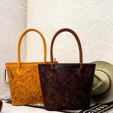 Craved Leather Purses