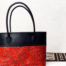 Crafted Leather Red Purse