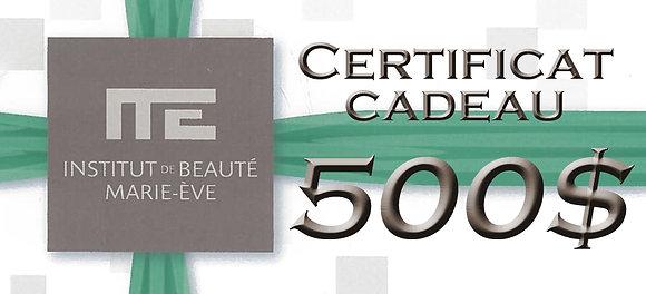 CERTIFICAT CADEAU - 500$