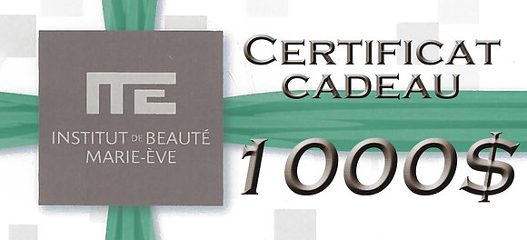 CERTIFICAT CADEAU - 1000$