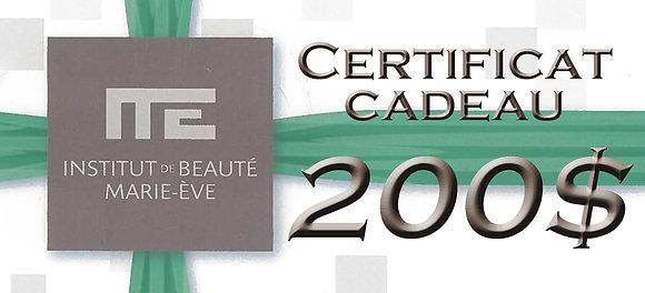 CERTIFICAT CADEAU - 200$