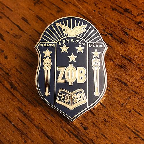 "Zeta Phi Beta 2"" Inch Shield Pin"