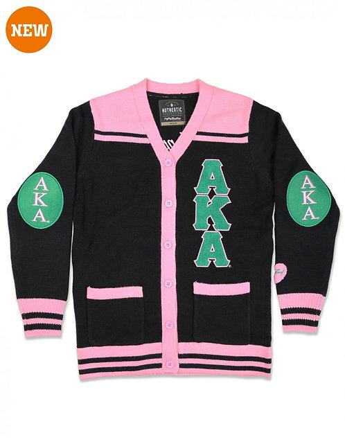 Alpha Kappa Alpha Button Sweater
