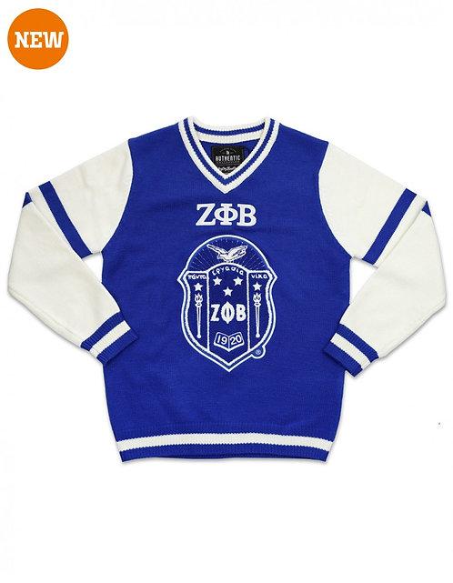 Zeta Phi Beta V-Neck Sweater
