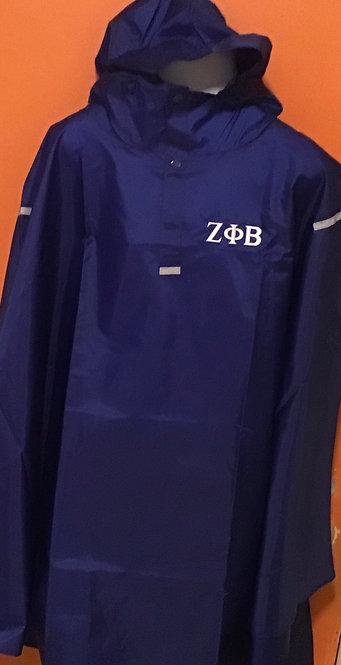 Zeta Phi Beta  Rain Packable Poncho