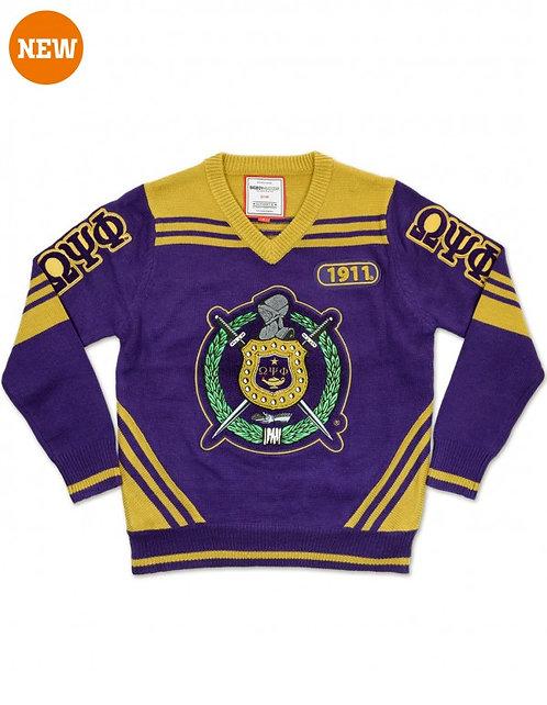 Omega Psi Phi V- Neck Sweater