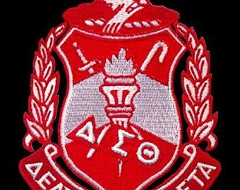 "Delta Sigma Theta 5"" Shield Patch"