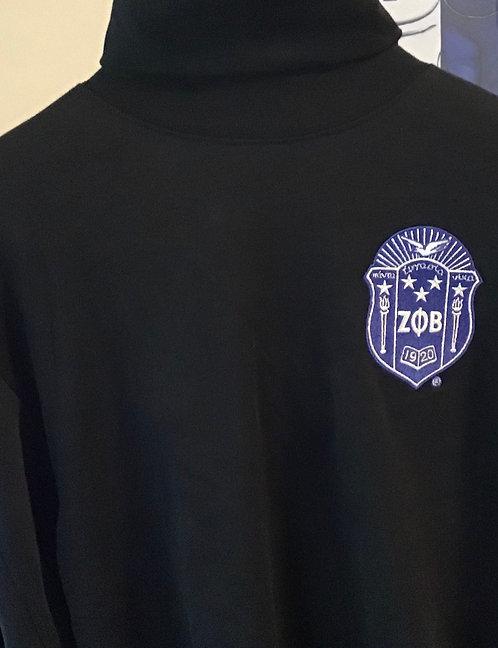 Zeta Phi Beta Black Turtleneck