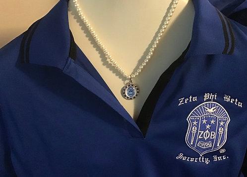 New Zeta Phi  Beta Shield Necklace