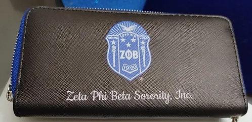 Zeta Phi Beta Shield Wallet-Standard