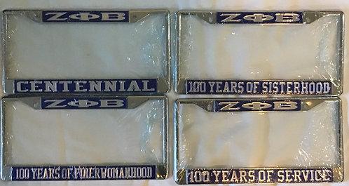 Zeta Phi Beta Centennial Frames
