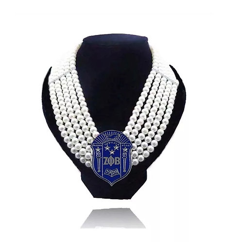 Zeta Phi Beta Necklace and Bracelet