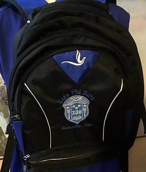 Zeta Phi Beta Black Backpack