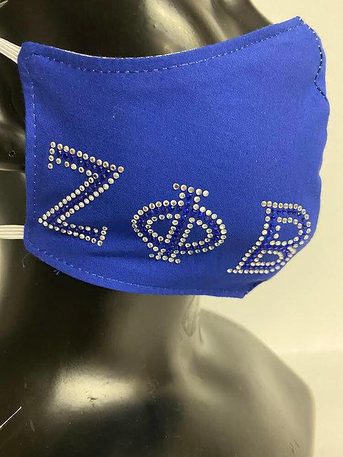 Zeta Phi Beta Bling Mask