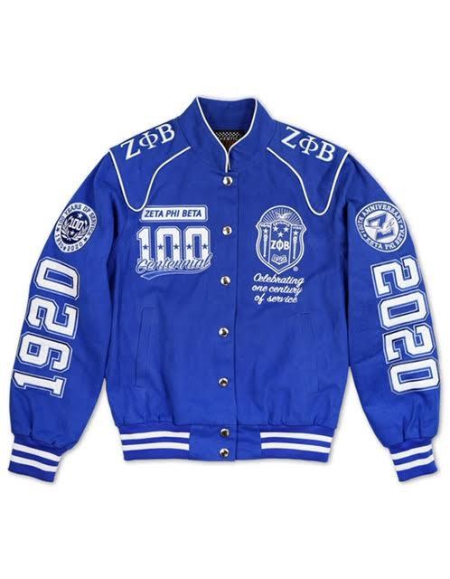 Zeta Phi Beta Centennial Racing Jacket