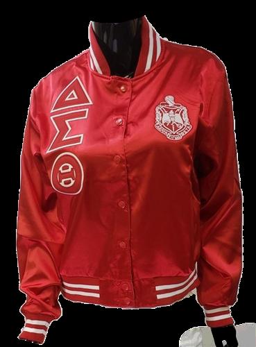 Delta Sigma Theta Satin Basketball Jacket