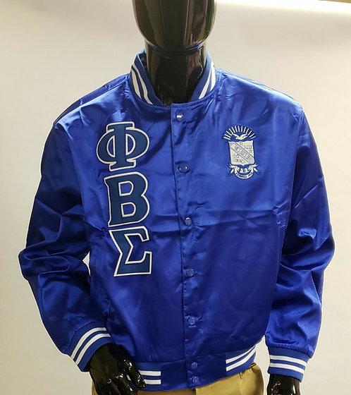 Phi Beta Sigma Retro Satin Baseball Jacket