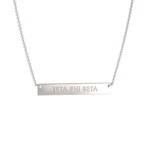 Zeta Phi Beta Sterling Silver