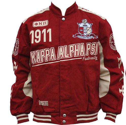 Kappa Alpha Psi Twill Racer Jacket