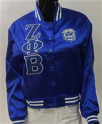 Zeta Phi Beta Satin Baseball Jacket