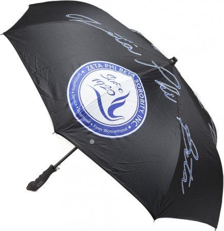 Zeta Phi Beta Automatic Inverted Umbrella
