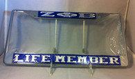 Zeta Phi Beta Life Member Car Frame