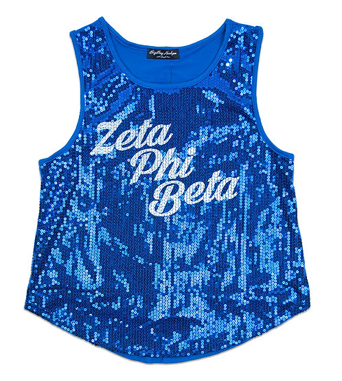 Zeta Phi Beta Sequins Tank Top