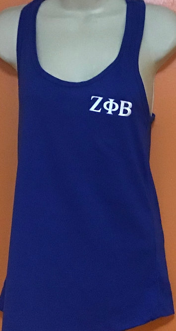 Zeta Phi Beta Embroidered Summer Tank