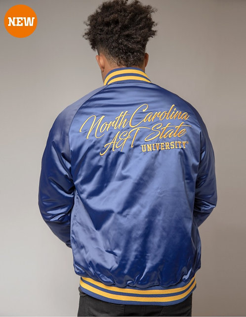 NC A&T Satin Baseball Jacket