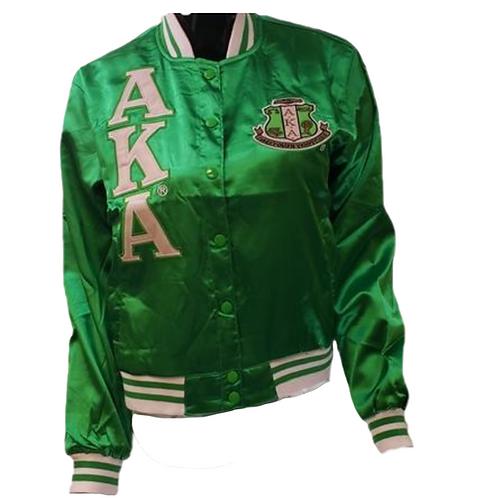 Alpha Kappa Alpha Satin Baseball Jacket