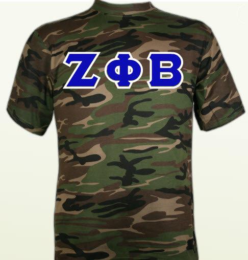 Zeta Phi Beta Camo Shirt