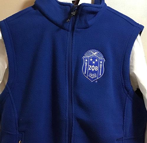 Zeta Phi Beta Fleece Vest
