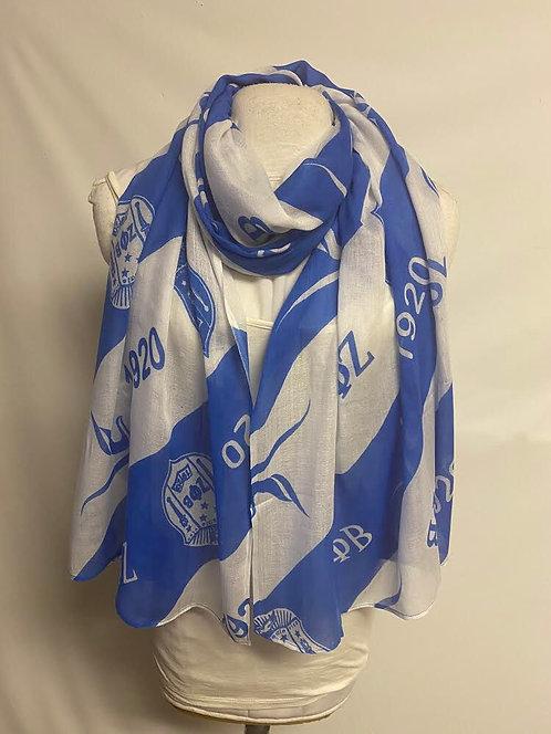 Zeta Phi Beta Rayon Oblong scarf